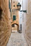 Menorca Ciutadella carrer del Palau przy Balearics Zdjęcia Stock