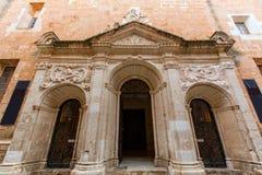 Menorca Ciutadella historical downtown facades Stock Image