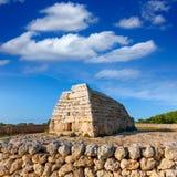 Menorca Ciutadella Naveta des Tudons megalithic tomb. Menorca Ciutadella Naveta des Tudons megalithic chamber tomb In Balearic islands Stock Images