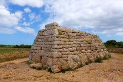 Menorca Ciutadella Naveta des Tudons megalithic tomb Royalty Free Stock Image