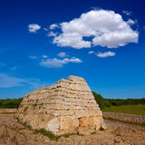 Menorca Ciutadella Naveta des Tudons megalithic tomb Royalty Free Stock Photos