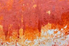 Menorca Ciutadella red grunge facade texture Stock Images