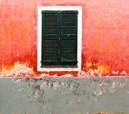 Menorca Ciutadella red grunge facade texture Stock Photography