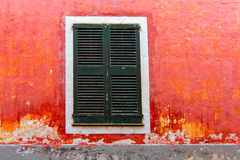 Menorca Ciutadella red grunge facade texture Royalty Free Stock Photography