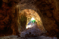 Menorca Cova dels Coloms Pigeons cave in es Mitjorn Royalty Free Stock Photos