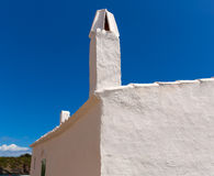 Menorca Es Grau white house chimney detail in Balearics Royalty Free Stock Image