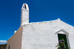 Menorca Es Grau white house chimney detail in Balearics Royalty Free Stock Photography