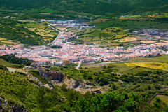 Menorca es Mercadal aerial view from Pico del Toro Royalty Free Stock Image