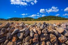 Menorca Es Mitjorn Mediterranean masonry landscape Royalty Free Stock Photography