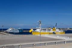 Menorca ferries Stock Photo