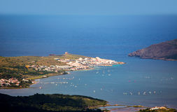 Menorca Fornells aerial view from Pico del Toro Royalty Free Stock Photos