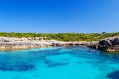 Menorca-Insel-Südküste lizenzfreies stockbild