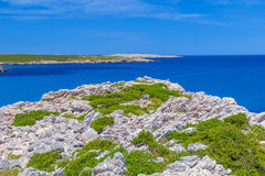 Menorca island cliff coast Stock Photography