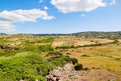 Menorca island field landscape Stock Image