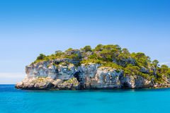 Menorca island sea-cliff Stock Photos