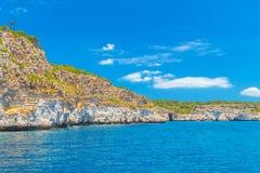 Menorca Island South Mediterranean Rocky Sea Coast Royalty Free Stock Images