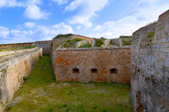 Menorca La Mola Castle fortress in Mahon at Balearics Stock Image