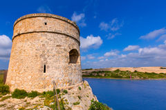 Menorca La Mola watchtower tower Cala Teulera in Mahon Royalty Free Stock Images