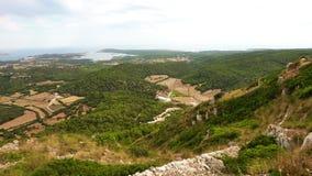 Menorca landssida Arkivbild