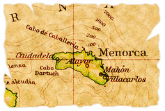 Menorca old map Stock Photos
