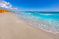 Menorca Platja de Binigaus beach Mediterranean paradise. In Balearic islands Stock Photos