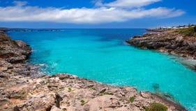 Menorca Platja es Calo Blanc w Sant Lluis przy Balearic wyspami obraz royalty free