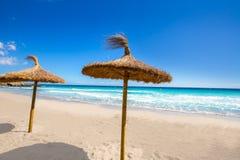 Menorca Platja Sant Tomas em Es Mitjorn Gran em Balearics imagens de stock royalty free