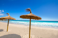Menorca Platja Sant Tomas in Es Mitjorn Gran at Balearics Royalty Free Stock Images