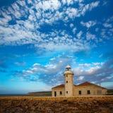 Menorca Punta Nati Faro lighthouse Balearic Islands Stock Images