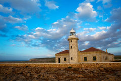 Menorca Punta Nati Faro lighthouse Balearic Islands Stock Photo