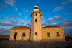 Menorca Punta Nati Faro lighthouse Balearic Islands Royalty Free Stock Images