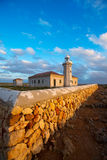 Menorca Punta Nati Faro lighthouse Balearic Islands Stock Images