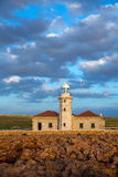 Menorca Punta Nati Faro lighthouse Balearic Islands Royalty Free Stock Photos