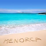 Menorca Punta Prima far illa del Aire island lighthouse Royalty Free Stock Photo