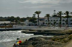 Menorca s'algar Spain. Minorca s' Algar ocean view with cloudy sky Menorca Spain Stock Photos
