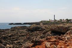 Menorca s'Algar Spanje stock afbeeldingen