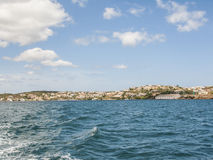Menorca´s landscape from a sailing boat. Royalty Free Stock Images