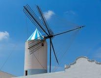 Menorca Sant Lluis San Luis Moli de Dalt windmill in Balearic. Islands of Spain royalty free stock photos