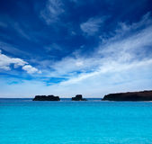 Menorca Son Saura beach in Ciutadella turquoise Balearic Stock Photo