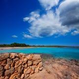Menorca Son Saura beach in Ciutadella turquoise Balearic. Menorca Son Saura beach in Ciutadella turquoise color at Balearic islands Stock Image