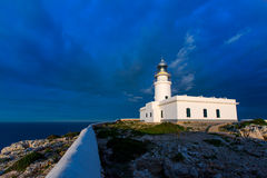 Menorca sunset at Faro de Caballeria Lighthouse Stock Photo