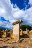 Menorca Taules Torralba de en Salort förhistoriska Salord Fotografering för Bildbyråer