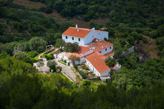 Menorca traditional Mediterranean houses aerial view Stock Image