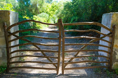 Menorca traditional wooden fence gate in Balearic islands Royalty Free Stock Photo