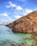 Menorcan cliffs. In spain with sea Royalty Free Stock Photography
