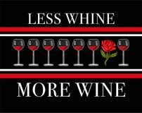 Menos lamentação mais vinho ilustração royalty free