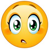 Menosprecie el emoticon de la hembra de la preocupación Foto de archivo