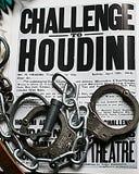 Menottes et chaîne d'affiche de Houdini photos stock