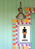 mens σημάδι δωματίων τροπικό Στοκ Φωτογραφίες