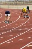 Mens 400 Meter Lack-Läufer Lizenzfreie Stockbilder